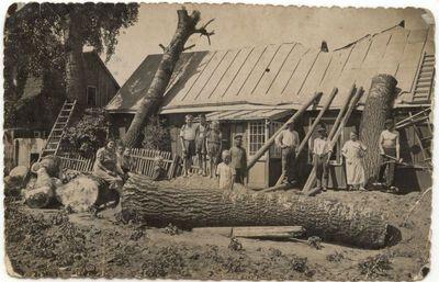 Po audros Marijampolėje. 1929 m.