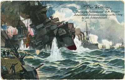 Pasaulinis karas. Jūrų mūšis prie Folklendo salų