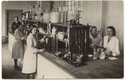 Marijampolės cukraus fabriko laboratorijoje.