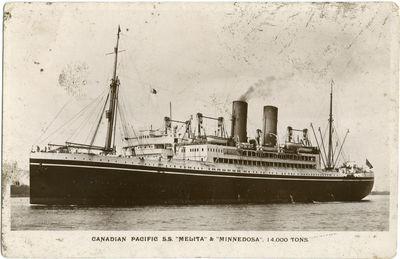 CANADIAN PACIFIC S.S. MELITA & MINNEDOSA