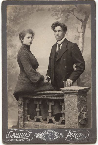 Jurgis Bliūdžius su žmona 1918 m.
