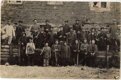 Marijampolės gyventojai varomi į darbus 1915 m.