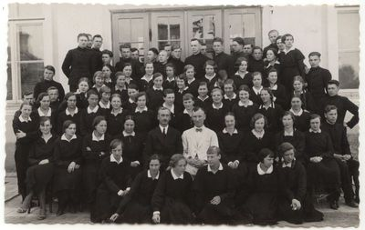Marijampolės mokytojų seminarijos choras. 1933-34 mokslo metai.