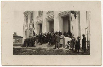 Prie Marijampolės mokytojų seminarijos rūmų 1939 m.