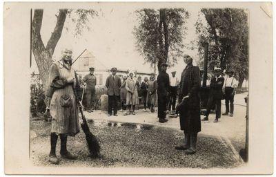 Plento Marijampolė -Kalvarija tiesimo darbai .1934 m.