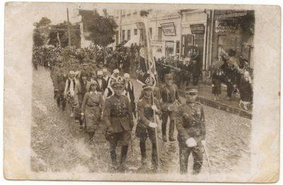Šaulių paradas Marijampolėje  1926 m.