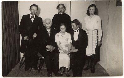 """Marijampolės teatro spektaklis """"Gaila ūsų"""" 1933-11-26."""