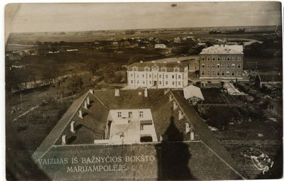 Vaizdas. iš Marijampolės Šv. arkangelo Mykolo Mažosios bazilikos bokšto 1930 m.