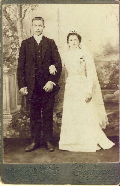 Čečinas Kazimieras su žmona.