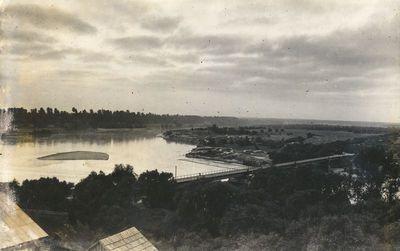 Panorama su Merkinės tiltu per Nemuną