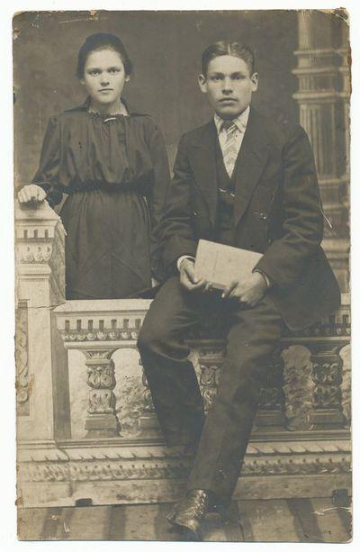 Jonas Alekna ir jo sesuo