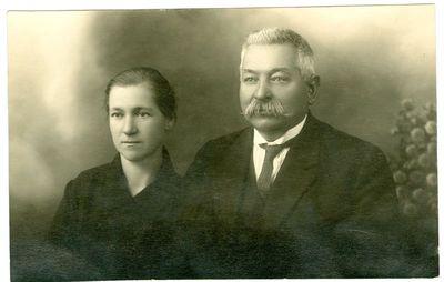 Antanas Povylius su žmona