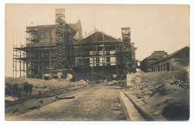 Petrašiūnų elektrinės statyba
