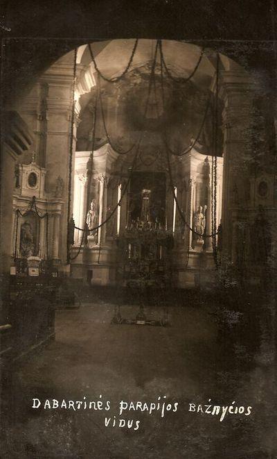 Kražių bažnyčios vidus