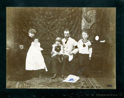 Benediktas Henrikas Tiškevičius su šeima