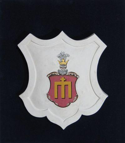 Gipsinis kartušas su bajorų Zabielų giminės herbu