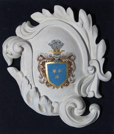 Gipsinis kartušas su bajorų Karpių giminės herbu
