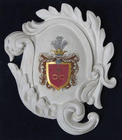 Gipsinis kartušas su Horskių giminės herbu
