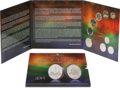 2014 m. laidos numizmatinis apyvartinių monetų rinkinys, skirtas Litui. Lietuva