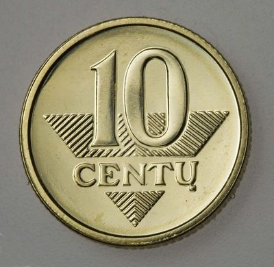 Moneta (etalonas). 10 centų. Lietuva