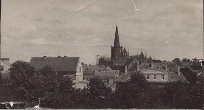 Klaipėda. Vaizdas į pietinę senamiesčio dalį iš Šv. Jono bažnyčios bokšto