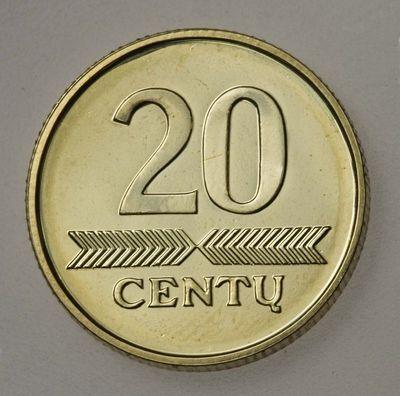 Moneta (etalonas). 20 centų. Lietuva