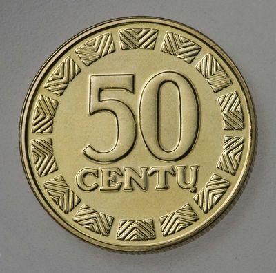 Moneta (etalonas). 50 centų. Lietuva