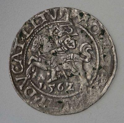 Moneta. Pusgrašis. Žygimantas Augustas (1544–1572). Vilniaus kalykla
