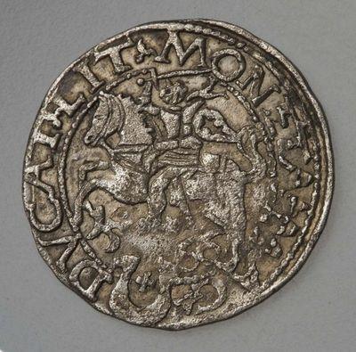 Moneta. Pusgrašis. Žygimantas Augustas (1544–1572). Tikocino kalykla