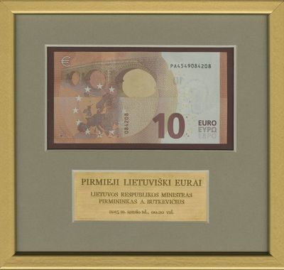 Banknotas. 10 eurų. Europos Centrinis Bankas