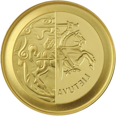 Moneta, kolekcinė. 50 eurų, skirta monetų kalybai LDK. Lietuva