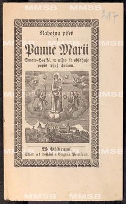 Nábožná píseň k Panně Marii Svatohorské, v nížto se obsahuje popis téhož chrámu