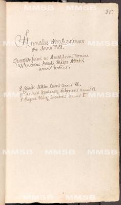 Annales Strahovienses 1780-1789