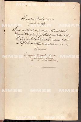Annales Strahovienses 1791-1803