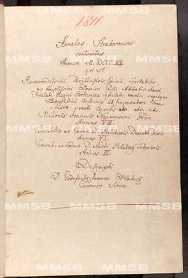 Annales Strahovienses 1811-1815