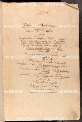 Annales Strahovienses 1816-1819
