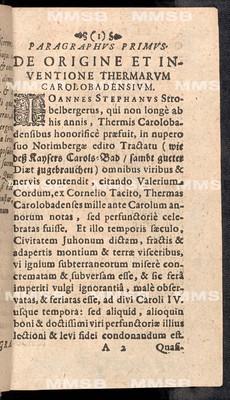 Tractatus novus de nymphis Carolobadensibus admirabilibus in regno Bohemiae
