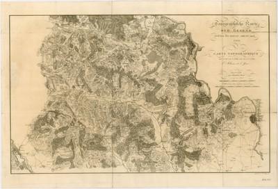 Topographische Karte der Gegend zwischen der Donau, Abens, und Iser = E0114531; E0121429; N0490215; N0483148