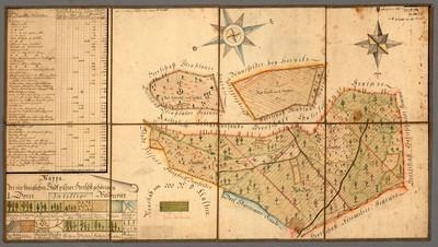 Mappa. der zu königlichen Stadt pilsner Herrschst : gehöringen I : Borer Waldrevier