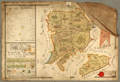 Mappa der zur k.k. Stadt Pilsner gehörigen und von der Hradecker abgetheilte = Bukssitzer Local Revier