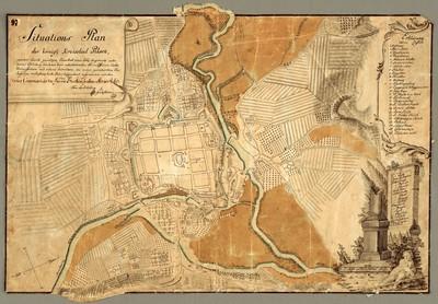 Situations Plan der königl. Kreisstad Pilsen, welcher durch gnädigen Vorschub eines löbl