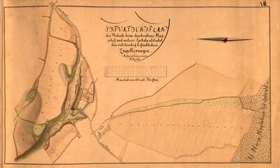 VIII. Situationsplan der Gründe beim Daubrakner Mayerhof und untern Spitalwald nebst den sich hierbey befindlichen Zuackerungen.