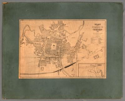 Plan der königlichen Kreisstadt Pilsen 1864
