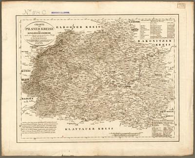 Charte von Pilsner Kreise des Königreiches Böheim nach zuverlässigen geographischen Hülfsmitteln bearbeitet von Fr. Jac. Heinr. Kreybich