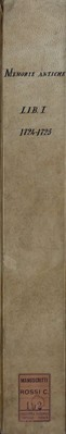 Memorie pistoiesi, Lib. I, 1724-1725