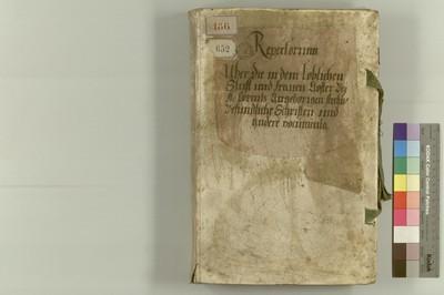 Archivrepertorium des Augustiner-Chorfrauenklosters bei St. Lorenz