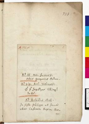 Calendarium and Missale