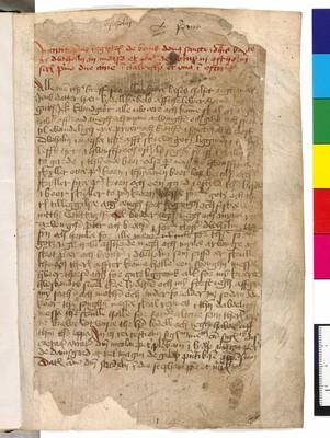 Brevbog for Dueholm Kloster: Dueholms Diplomatarium                             I