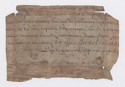 Brot úr frönsku skjali, 1727