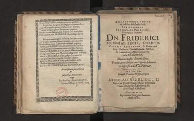 Acclamationes votivae in publica Silesiae laetica, Sub adwentum [...] Dn. Friderici Bojemiae regis [...]
